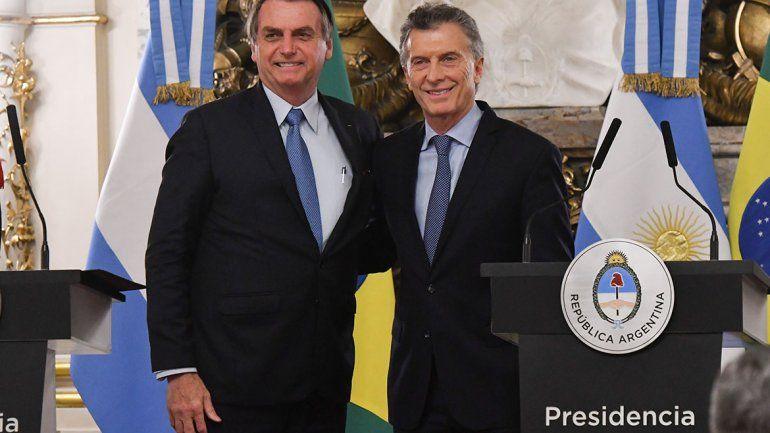 Bolsonaro les pidió a los argentinos que voten otra vez a Macri