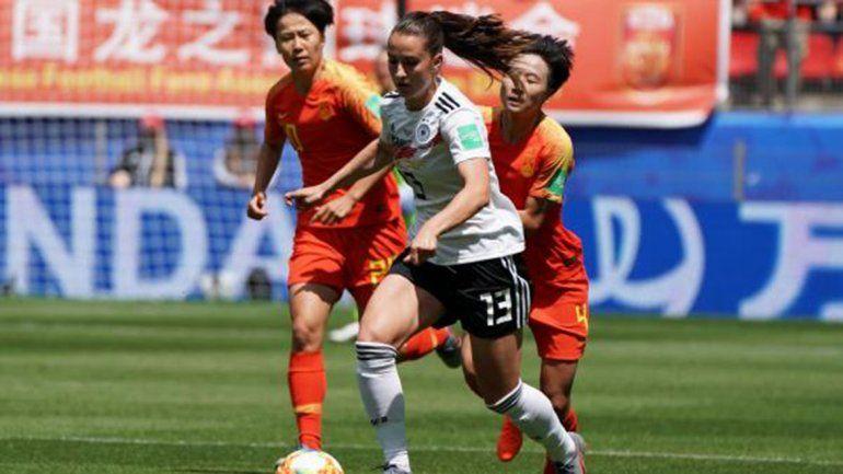 Alemania debutó en el Mundial de fútbol femenino y ganó 1-0 ante China