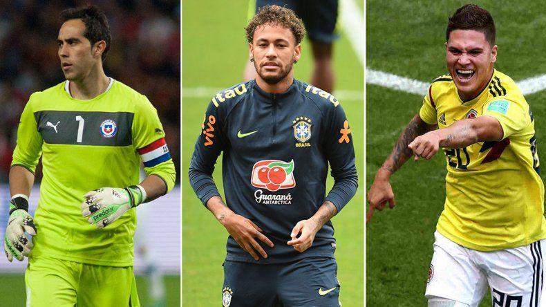 Los grandes ausentes de la Copa América, con Ney a la cabeza
