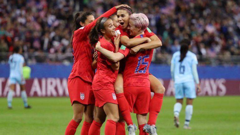 La goleada histórica, y récord, de Estados Unidos en el Mundial femenino