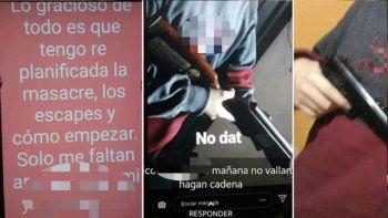 alumno amenazo con hacer una masacre en su escuela