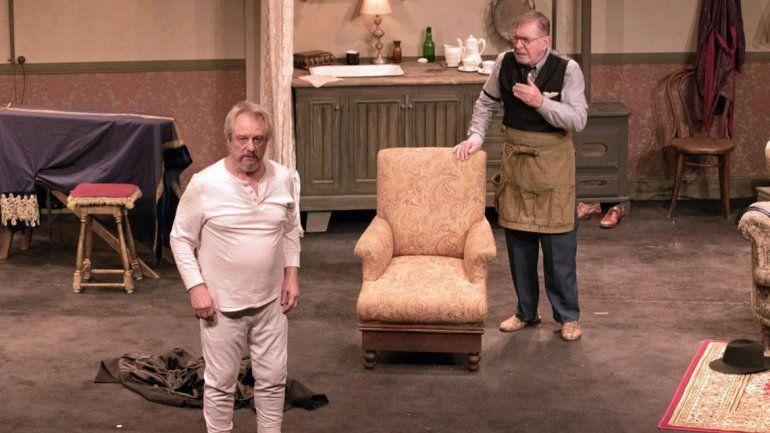 Arturo Puig y Jorge Marrale con El vestidor, un homenaje al teatro en Neuquén
