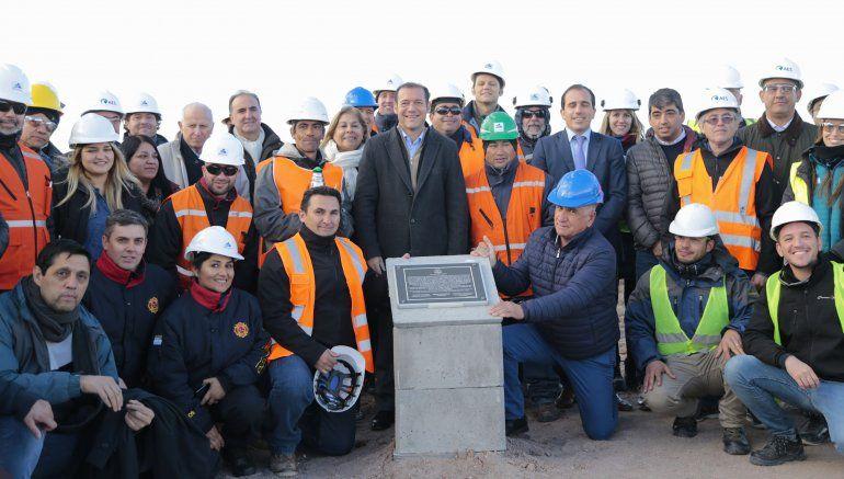 Pusieron la piedra fundamental del primer parque eólico de la provincia