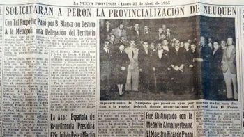 ¿por que hoy la provincia de neuquen cumple 64 anos?