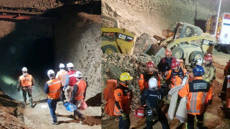 Chile: rescatan a uno de los mineros y un segundo fue hallado muerto