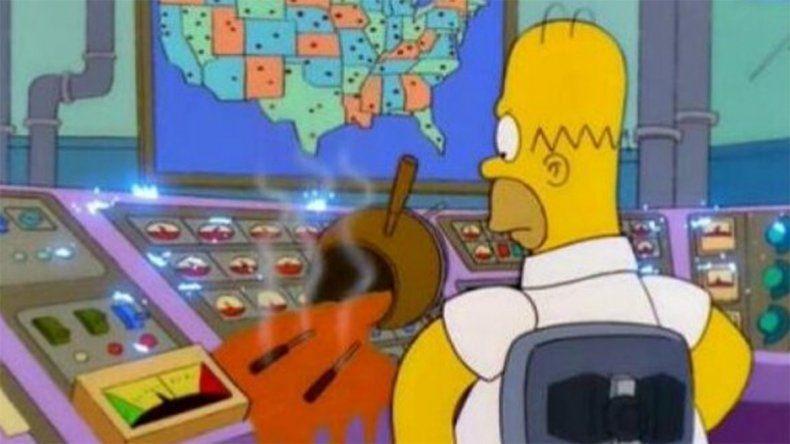 Los Simpsons y los celulares sin batería, los protagonistas de los memes por el apagón