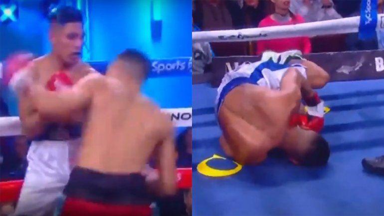 Dramático KO: inconsciente y sin reacción, un boxeador argentino asustó a todos