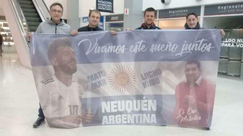 El viaje de cuatro neuquinos a la Copa América en honor a un querido amigo que murió