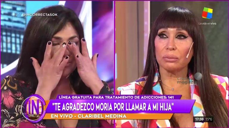 Moria y Claribel lloraron en Incorrectas por las adicciones