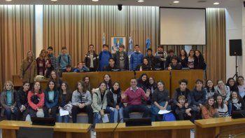 estudiantes visitaron el deliberante y conocieron su actividad