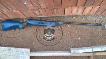 secuestran rifle de aire comprimido tras una denuncia por amenazas