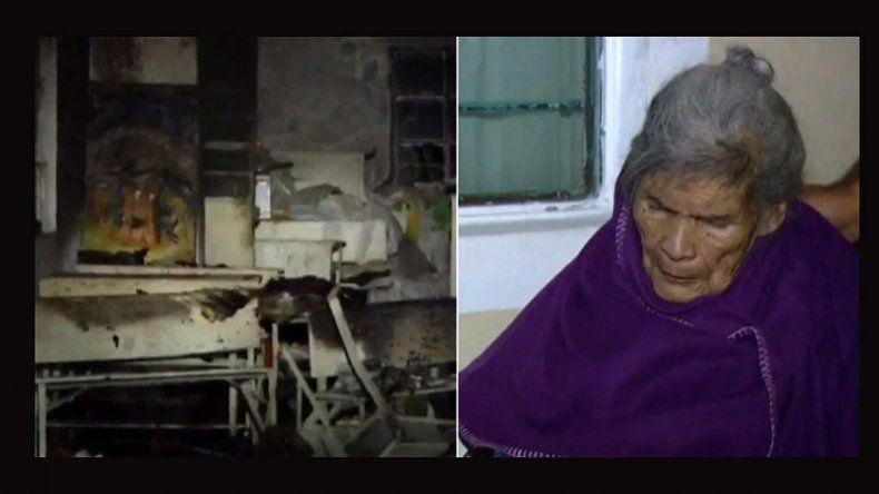 Roban e incendian la casa de una abuela con ella adentro