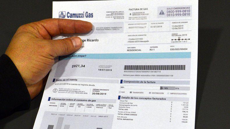 Oficializan el diferimiento de la suba en las facturas de gas
