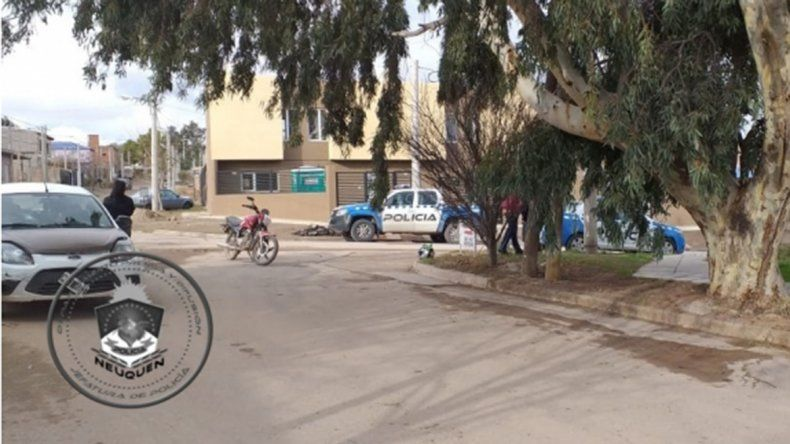 Barrio Melipal: chocó y quedó internado con custodia porque tenía un arma de fuego
