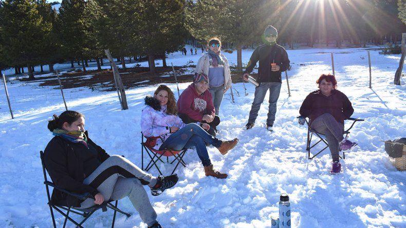 Andacollo también se muestra con su parque de nieve