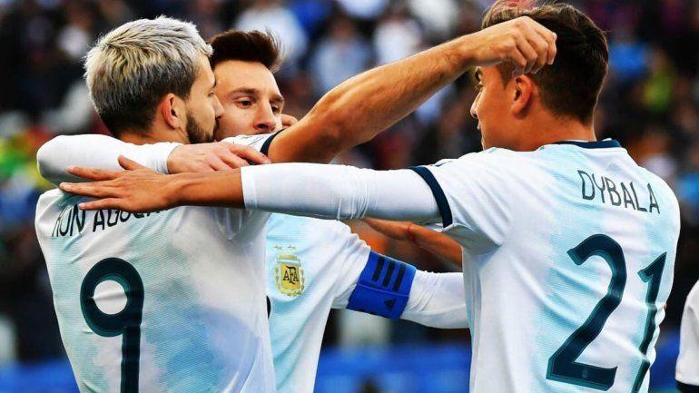 Sin Messi, que vio la roja, Argentina venció a Chile y terminó tercero