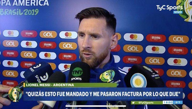 Messi volvió a criticar a la Conmebol, habló de corrupción y dijo por qué lo echaron