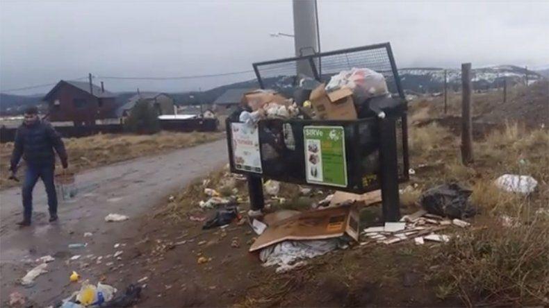 El intendente electo de San Martín salió a juntar residuos