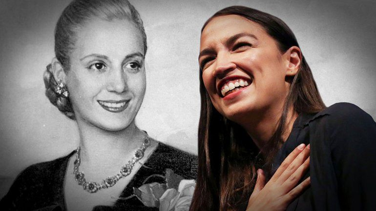 Trump comparó a una congresista de 29 años con Eva Perón