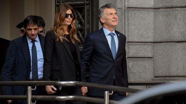 Macri y Awada asistieron al velorio de De la Rúa en el Congreso