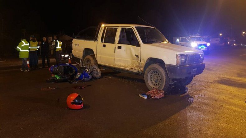 Piedra del Águila: una motociclista sufrió graves heridas tras un accidente