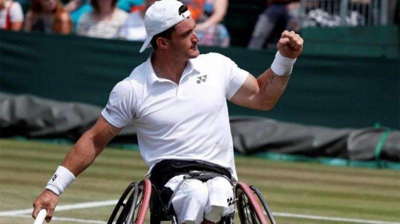 Lobito Fernández, en la final de Wimbledon