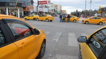 taxista baleado: el centro sitiado desde la madrugada
