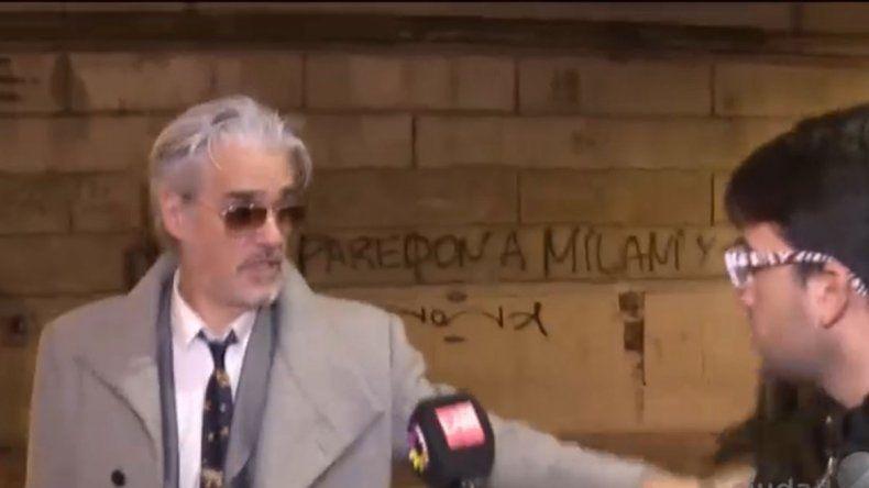 Video: Roberto Pettinato, a los empujones con un cronista