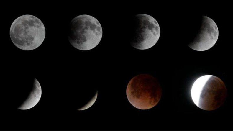 ¿A qué hora se verá en su máximo esplendor el eclipse lunar?