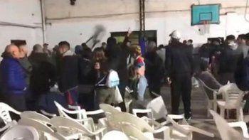 la plata: un festival de boxeo termino en una guerra campal