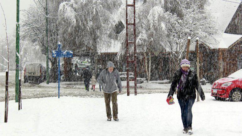 Ya son siete localidades las que no tendrán clases por el temporal de nieve