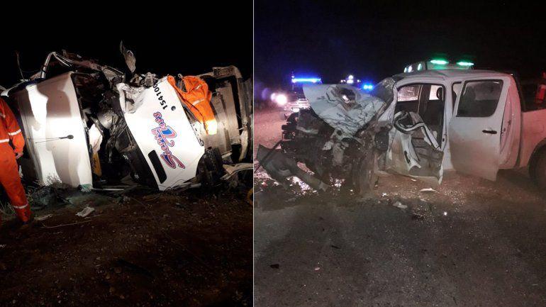 Choque frontal entre un minibús y una camioneta en Ruta 17: hay tres heridos