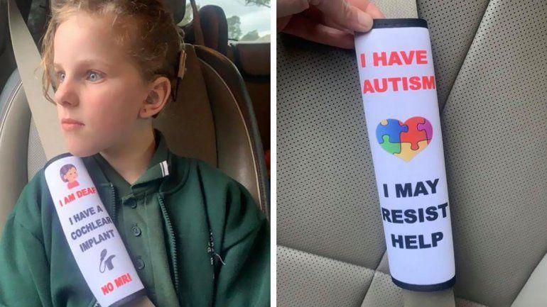 AUSTRALIA: Una madre creó un cinturón de seguridad especial para discapacitados