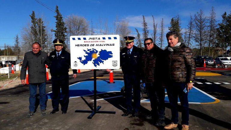 Inauguraron una pista de seguridad vial en el 59° aniversario de la Dirección Tránsito