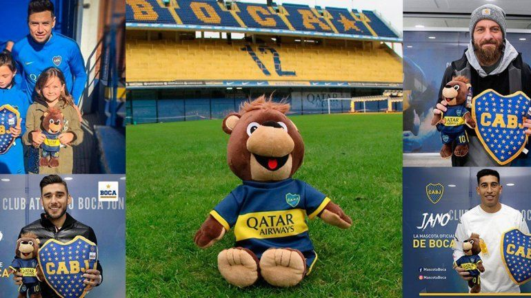 El Oso Jano, una mascota que generó polémica en Boca y memes de River