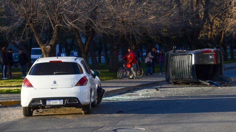 Así fue el impresionante choque en plena Avenida Argentina