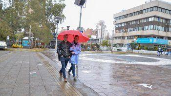 el finde, con lluvia, tormenta y viento