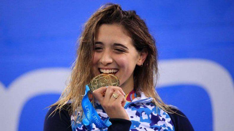 La nadadora Pignatiello ganó su segunda medalla en Lima