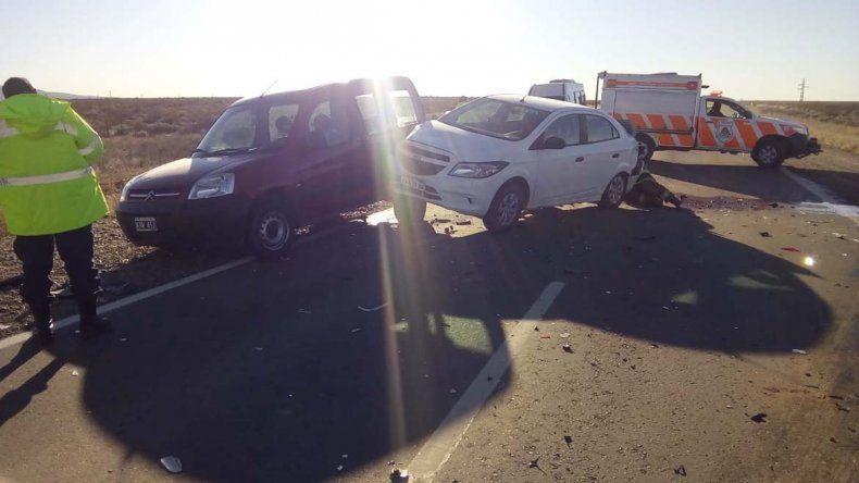 Ruta 22: choque en cadena dejó dos heridos
