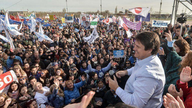 Gaido lanzó su campaña de cara al 22 de septiembre ante una multitud