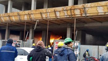 susto por el incendio en un edificio en construccion en doctor ramon