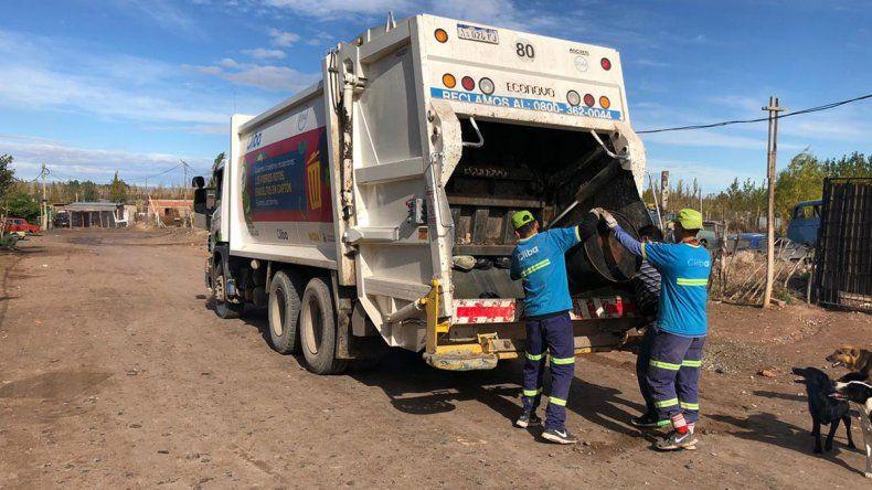 Los neuquinos dejaron carteles de agradecimiento para los recolectores de basura
