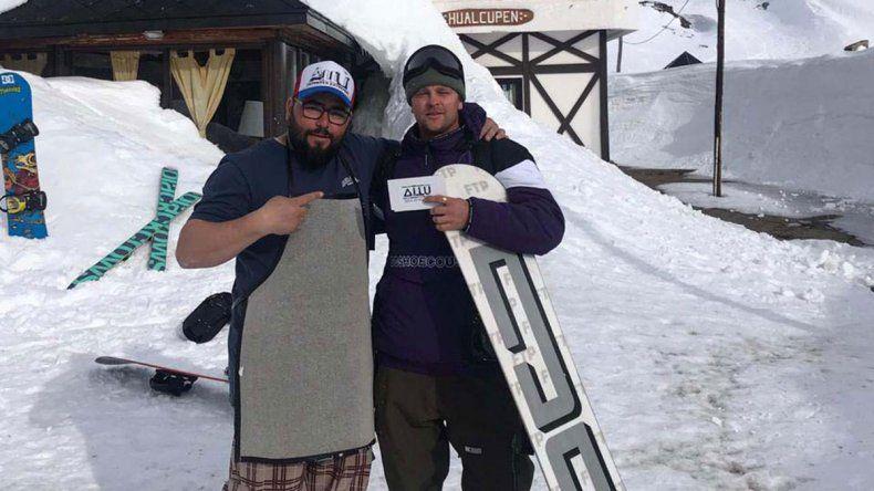 Invento neuquino: una cera ecológica para deslizarse en la nieve es furor