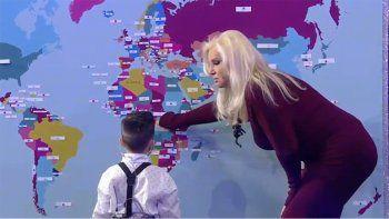 papelon y polemica: susana se perdio con el mapa de argentina