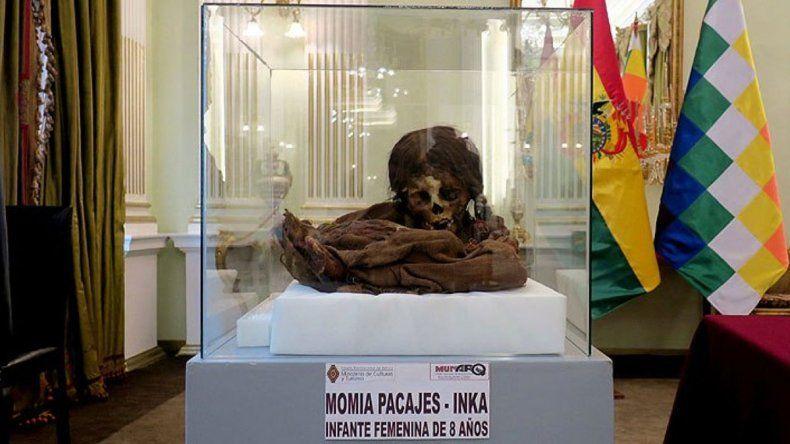 La momia de una niña inca que volvió a Bolivia