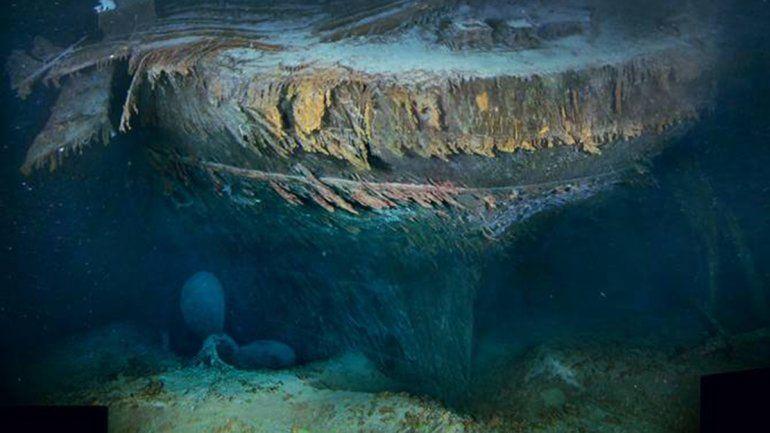 Mirá como los microbios se están comiendo al Titanic