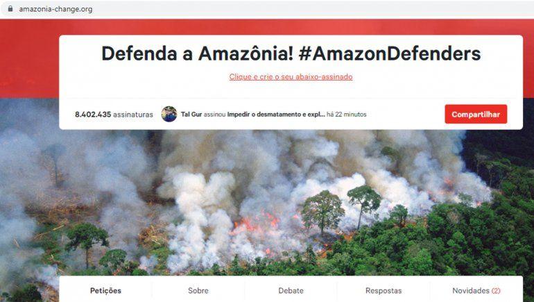 Resultado de imagen para foto de las firmas para salvar al amazonas