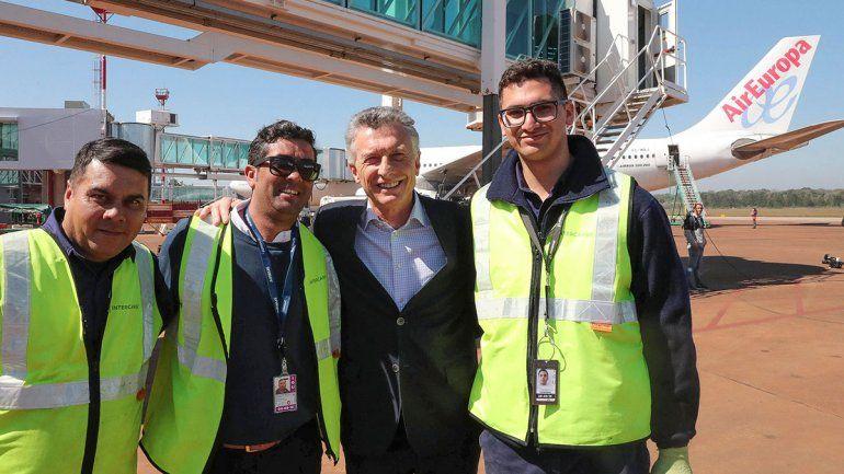 Macri inauguró una ruta aérea y se mostró federal
