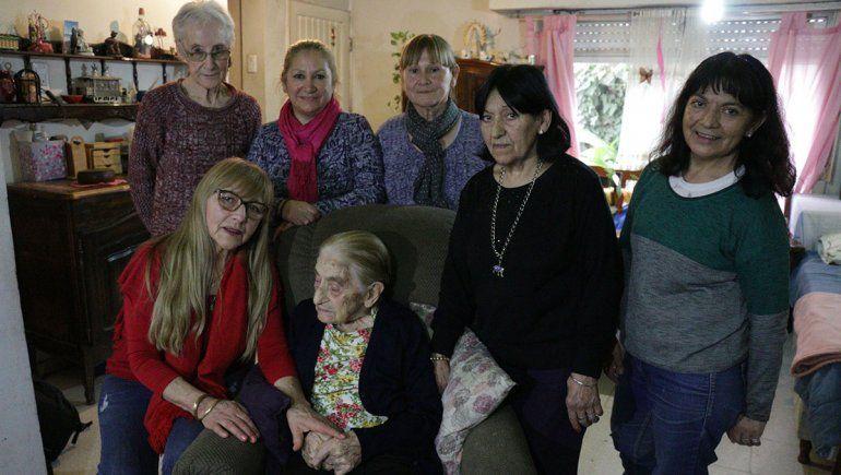 Malvina, la portera que trabajó hasta los 80 años