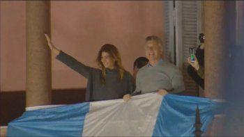 macri saludo emocionado desde el balcon en el #24a